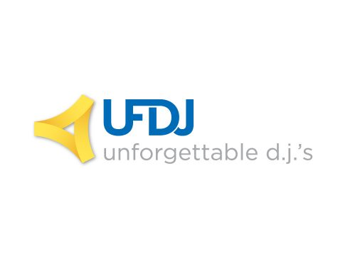 unforgettable djs logo design
