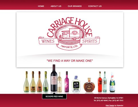 carriage house website design.