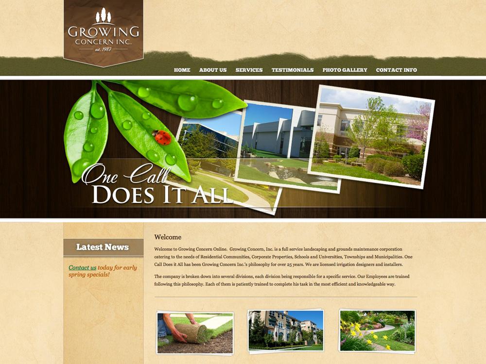 Landscaper Web Design