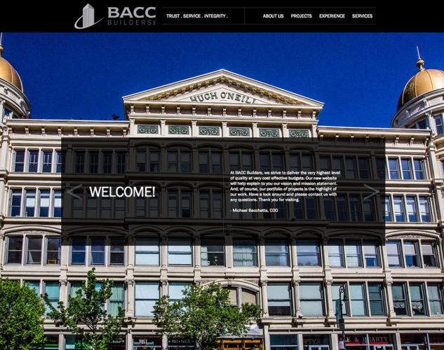BACC BUILDERS Commercial Construction Website