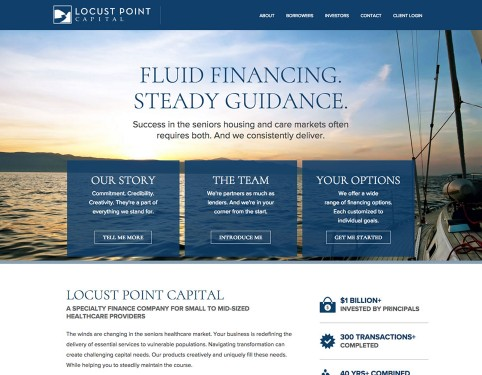 locust point website financial firm.