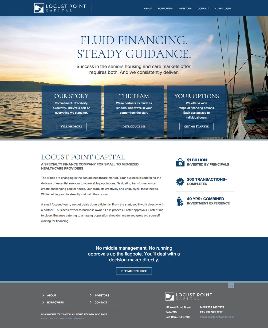 Professional Web Design for Locust Point Capital.