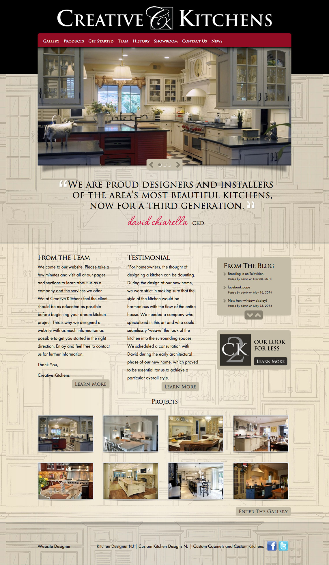 NJ Website Design Studio, Kitchen Design Studio Website Design