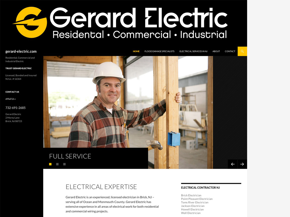 Electrician Web Design