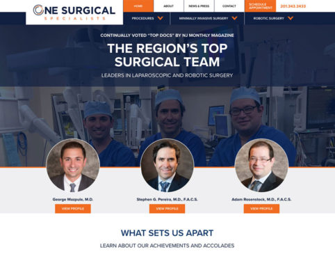 one surgical specialists robotic surgeon website.