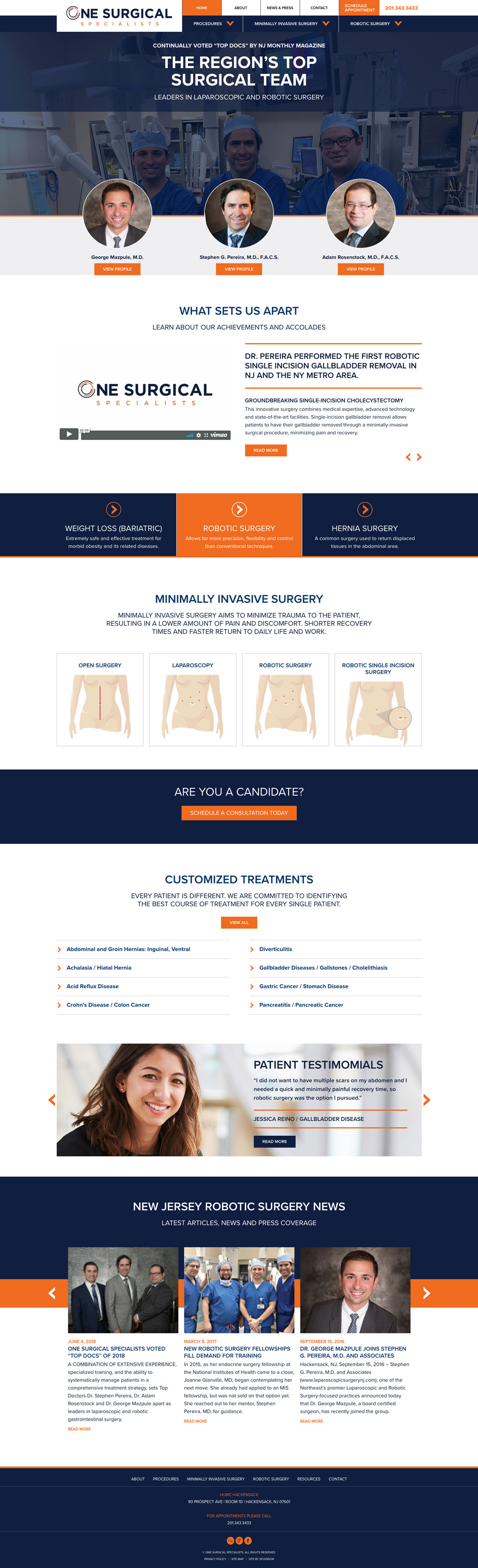 one surgical web design