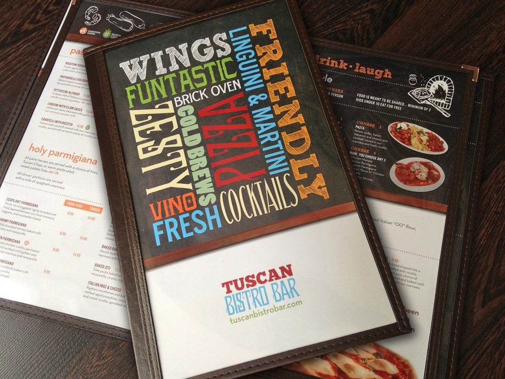 Restaurant menu design designer nj graphic