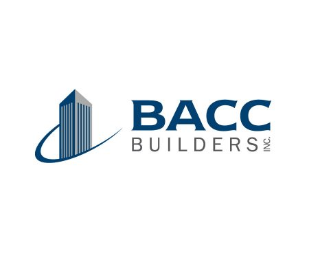 bacc builders construction logo design.