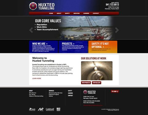 huxted tunneling website design.