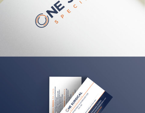 one surgical business card and print design.