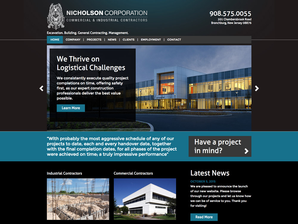 Commercial Contractor Website, Web Design NJ