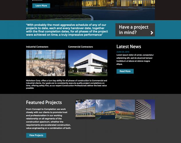 Nicholson Construction Company Website