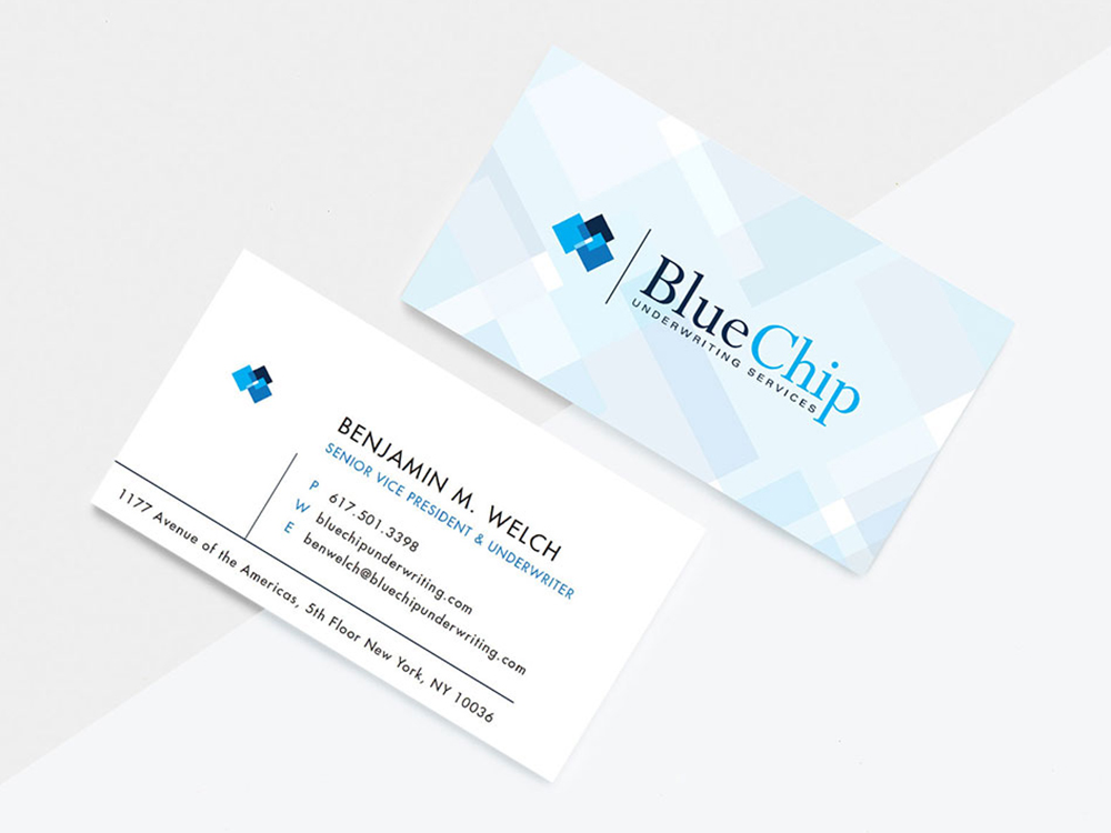 bluechip business cards