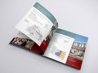 ridgewood onyx equities property brochure print design.
