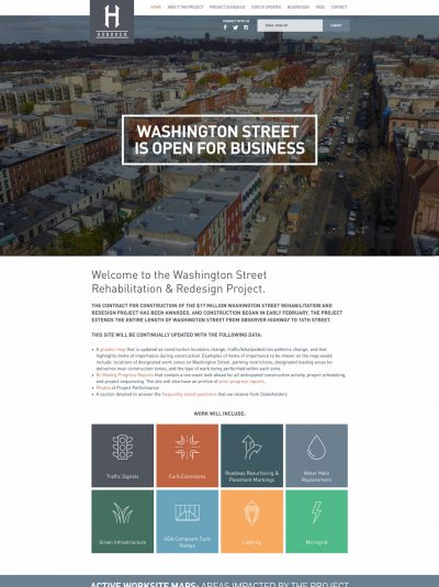 Washington Street Hoboken Project Website.