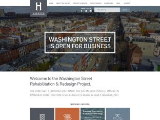 City of Hoboken Website for Washington Street Project