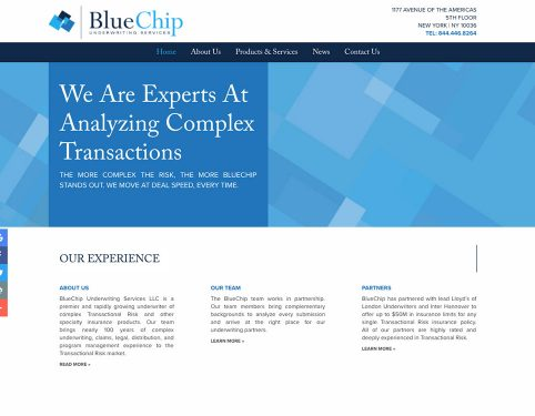 BlueChip Underwriting Firm Website.