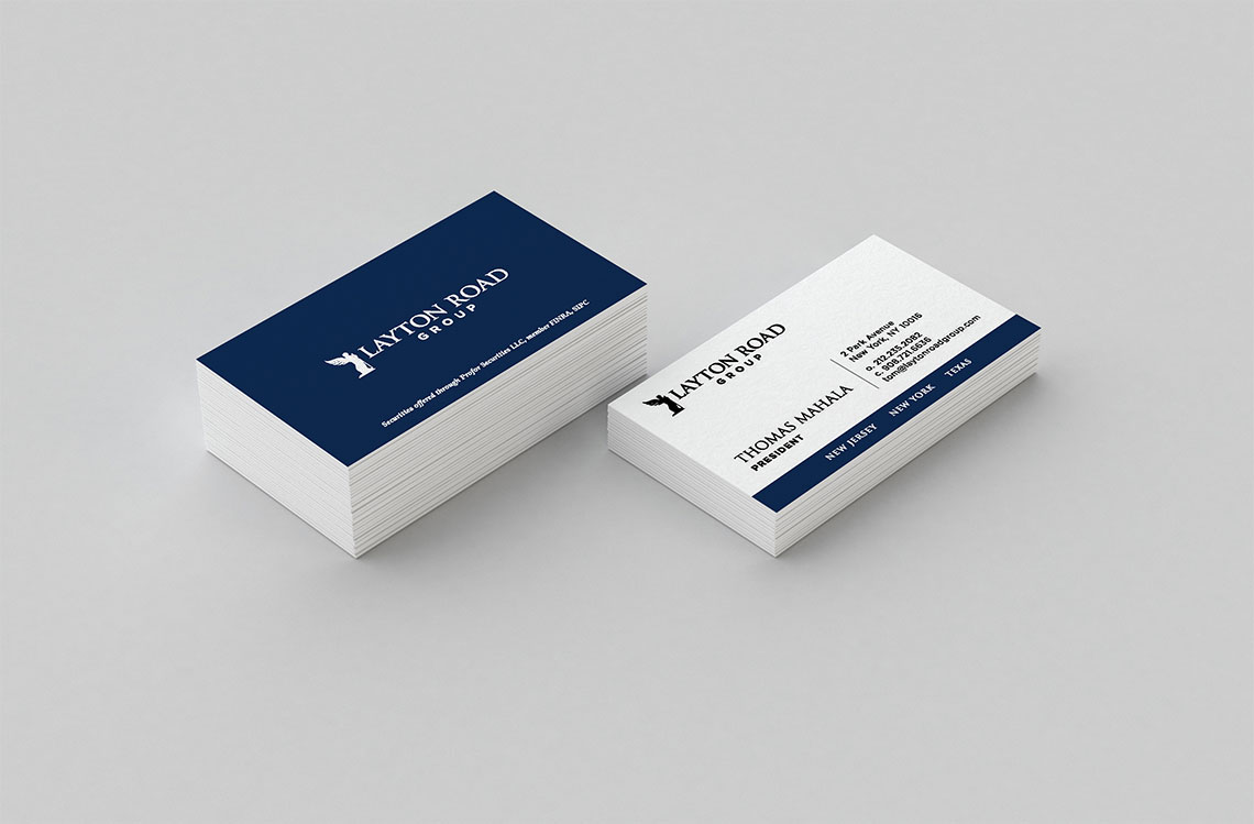 Business card design for layton road group objective reheart Image collections
