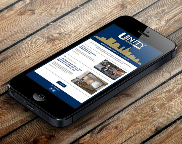 unity construction email marketing new jersey