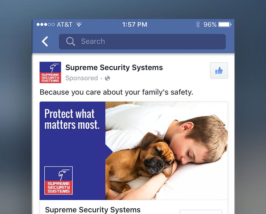 supreme security web design