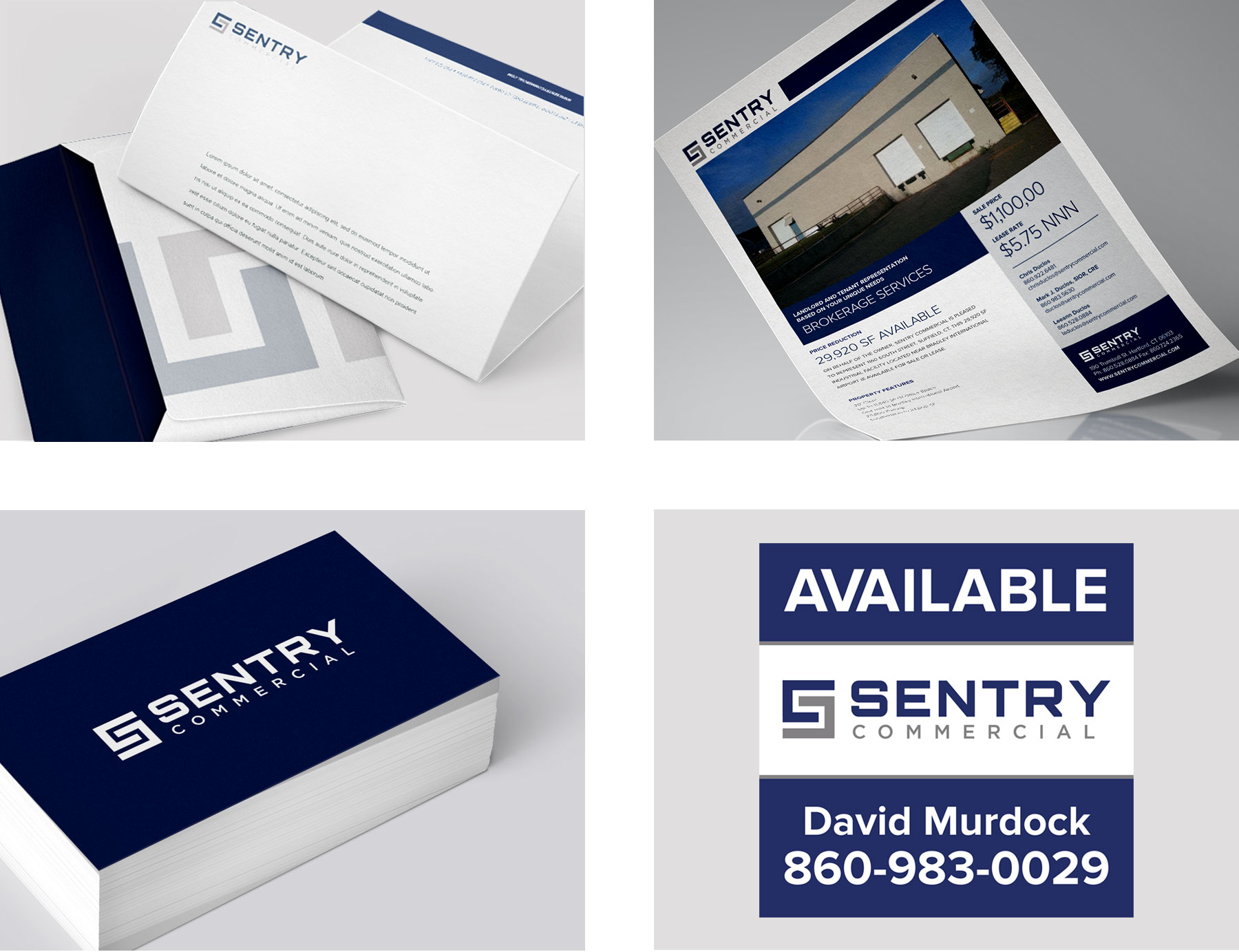 CRE print brochures and stationery