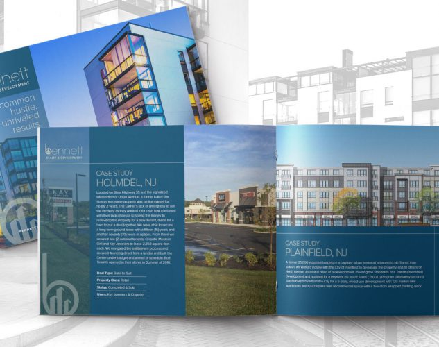 bennett realty brochure design.