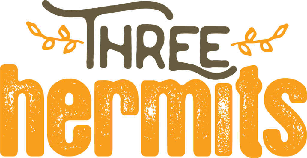 three hermits logo design