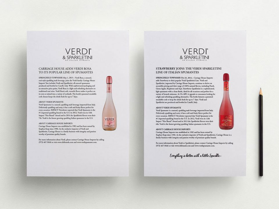 verdi spumante liquor brand press releases.