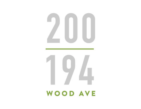 sjp properties 200 wood ave south metropark CRE property logo design.