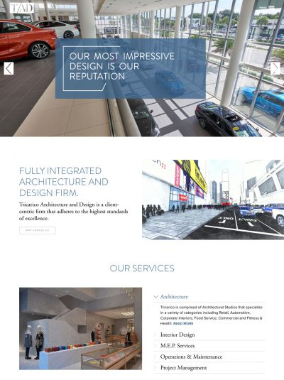 tricarico architecture and design website.