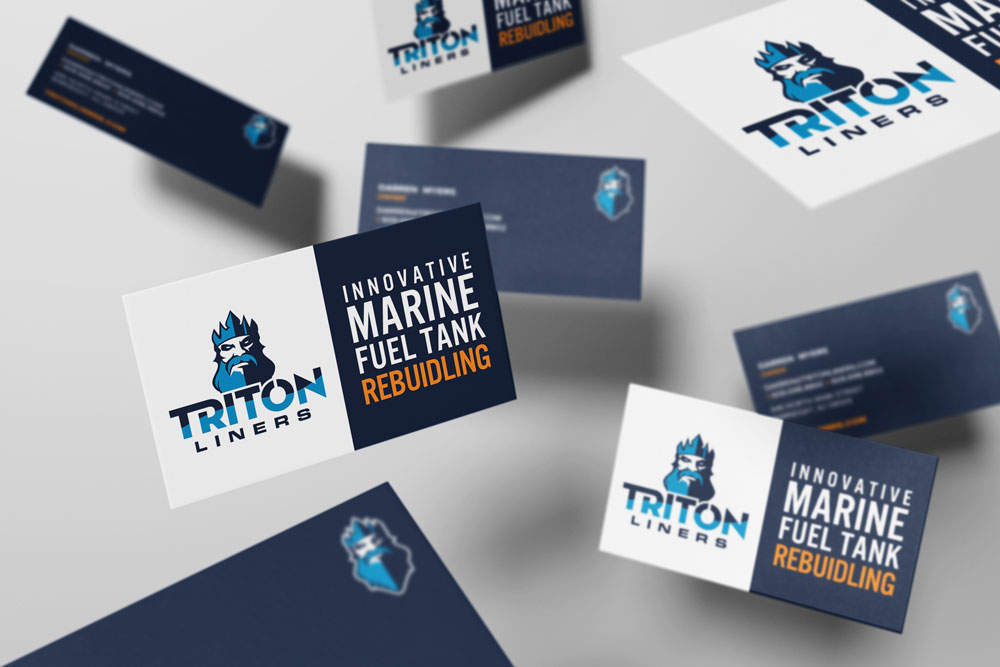 Triton Liners Business Card Design