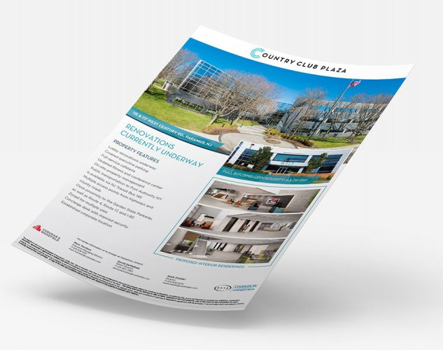 country club paramus property flyer onyx equities design.