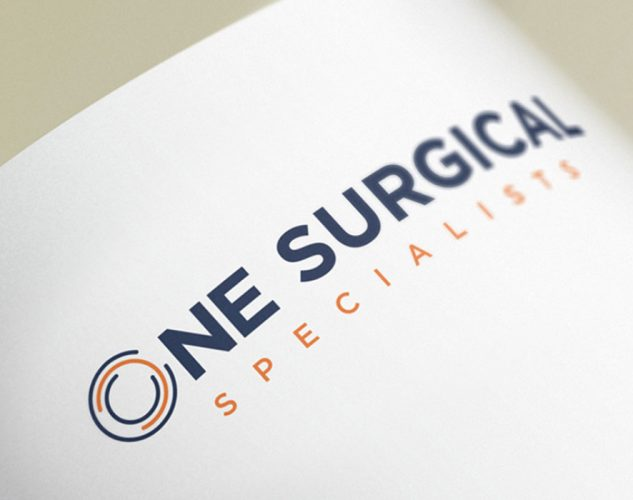 one surgical print logo design
