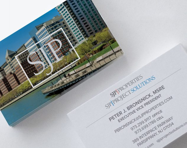sjp properties business cards.