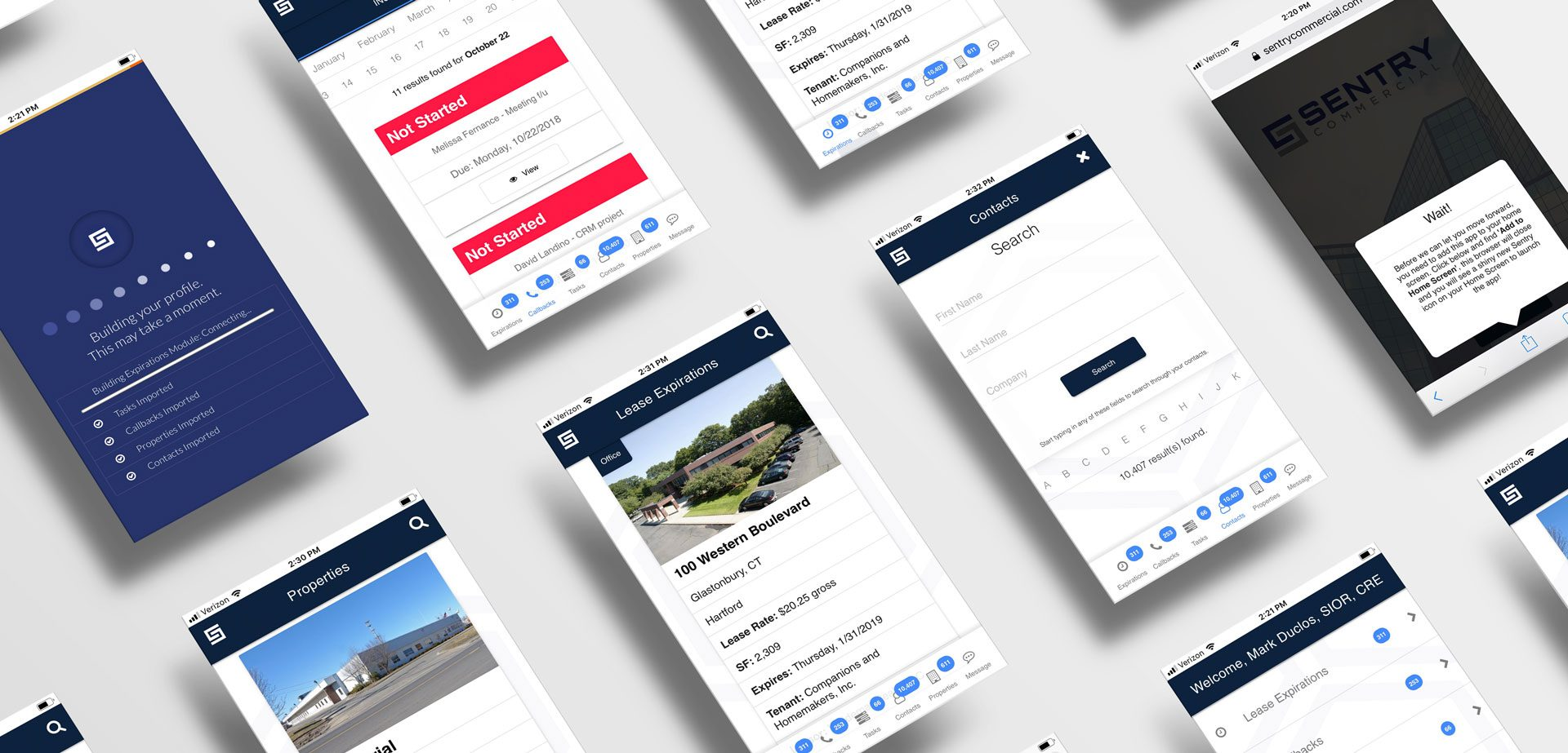 web app screen flow