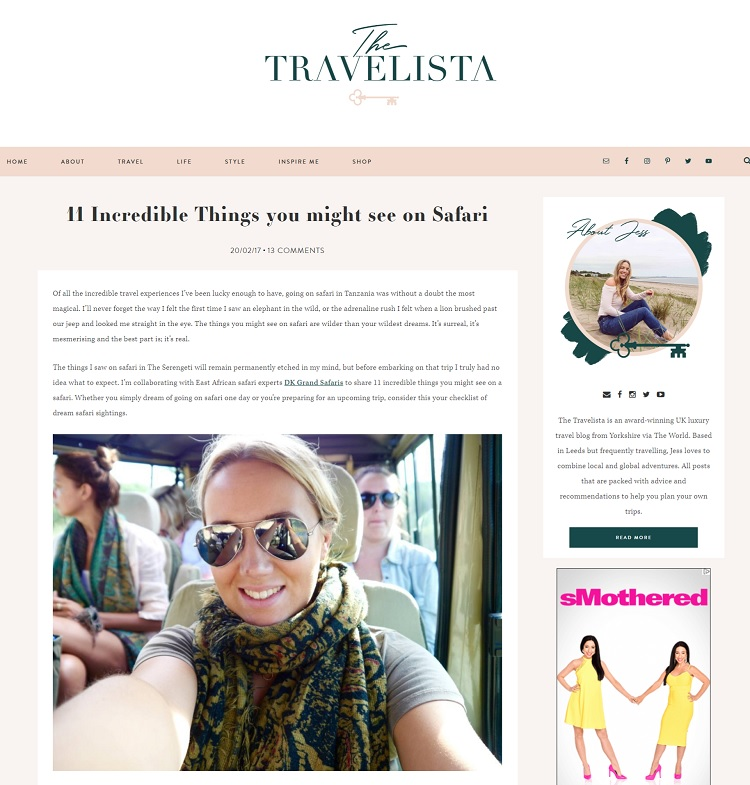 The Travelista blog