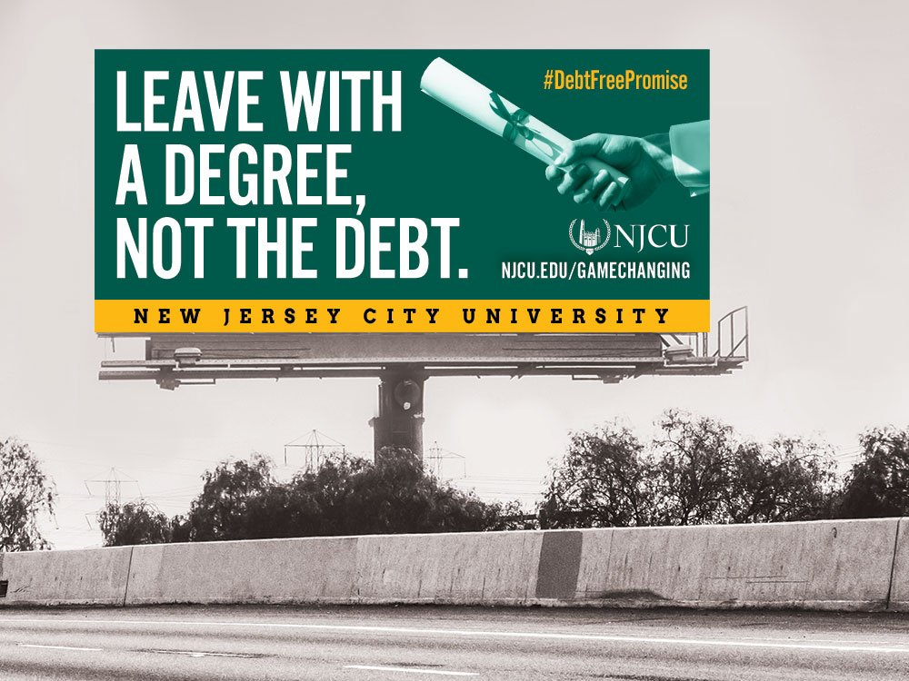 New Jersey City University Billboard Design by Splendor.