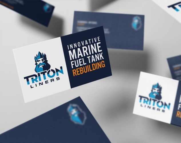 triton business card design