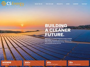 CS Energy Solar Website Design