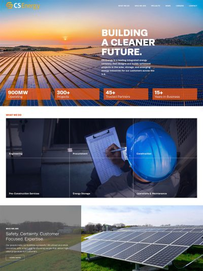CS Energy website design