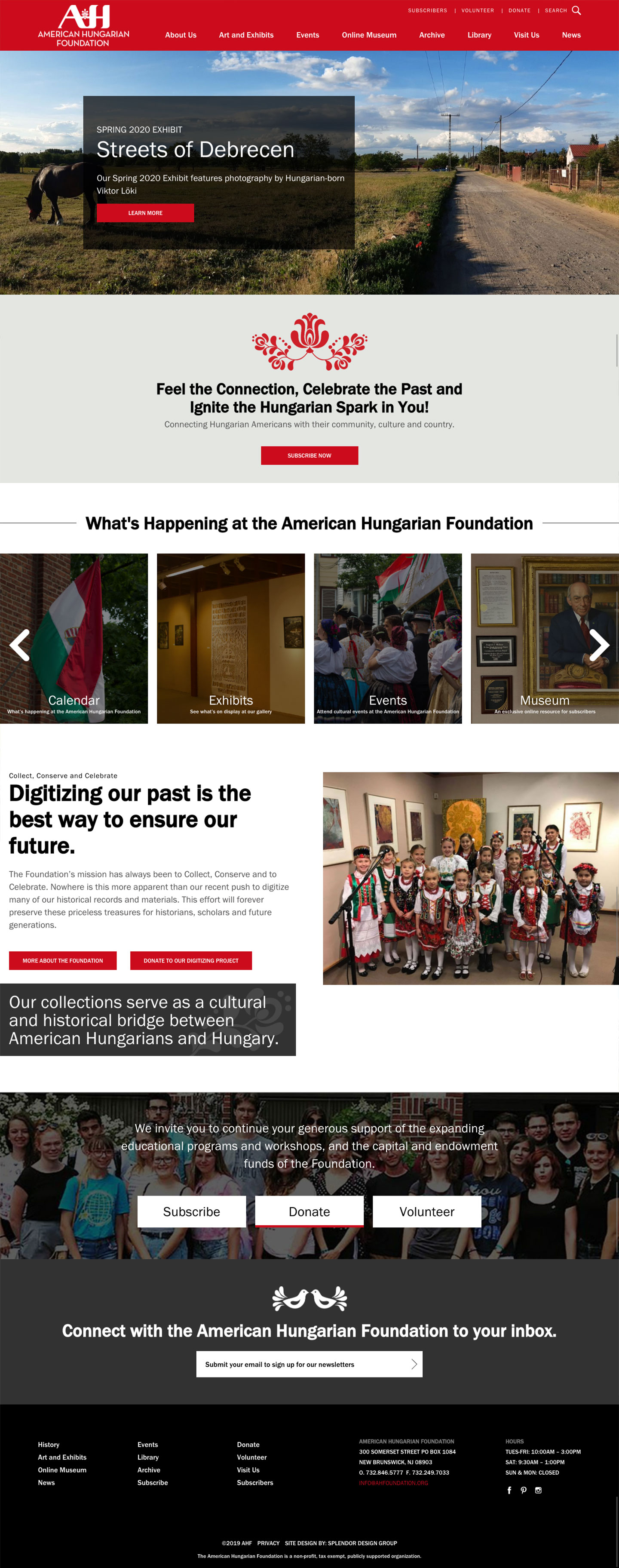 Web Design for the American Hungarian Foundation