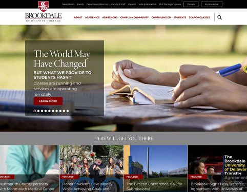 web design for community college